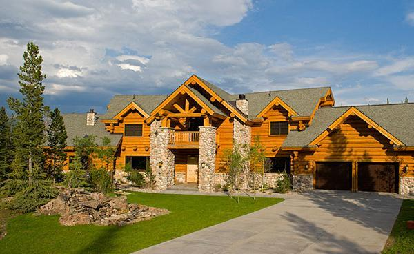 Big sky montana vacation rental house usa vacation for Vacation log homes