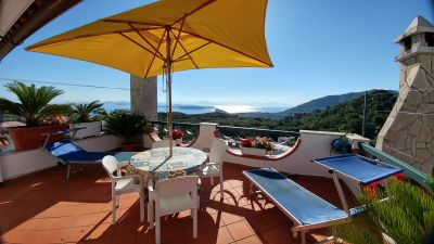 Sprawling Terrace Overlooking Dazzling Bay, La Favola